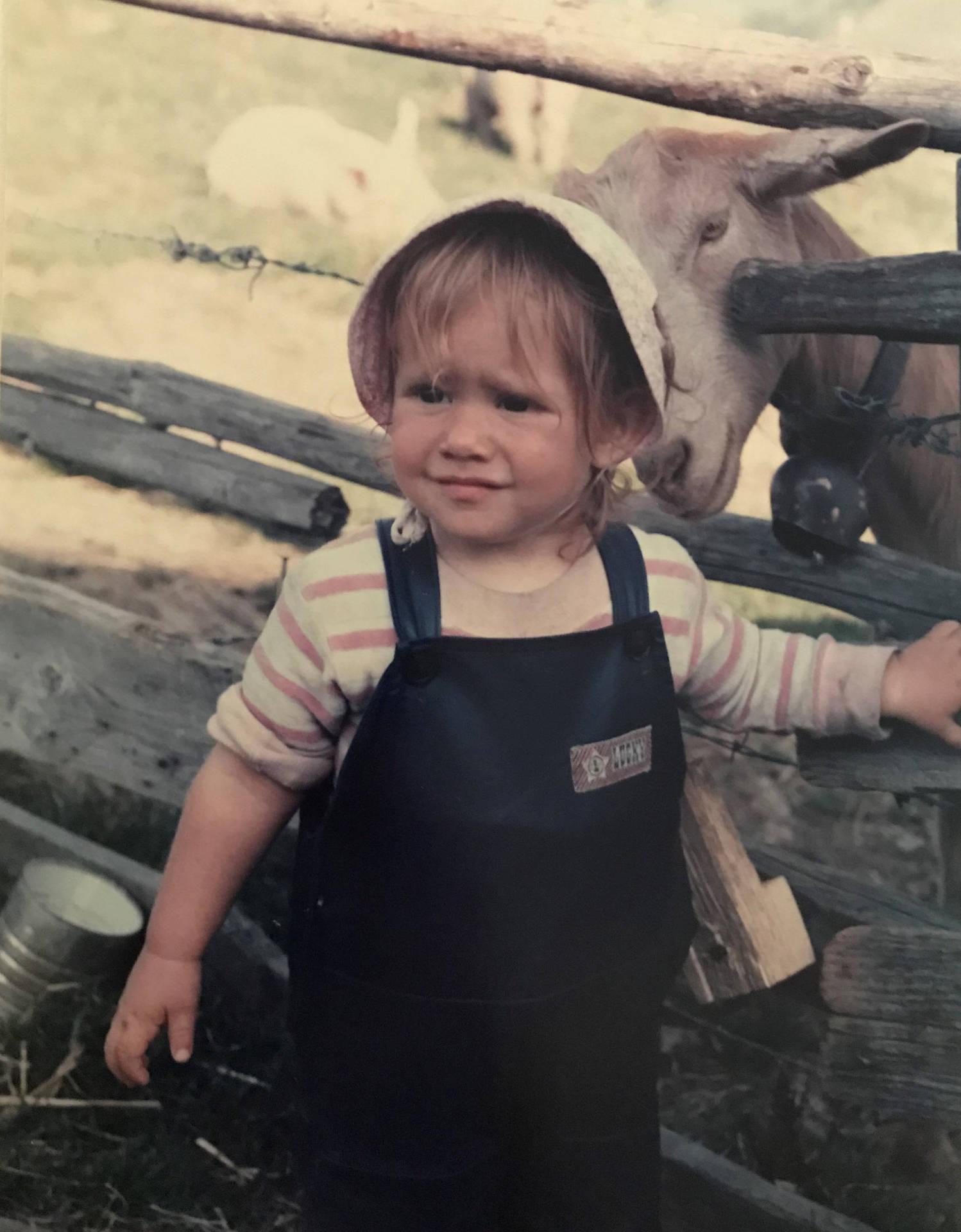 女作者在阿尔卑斯山上,1985年