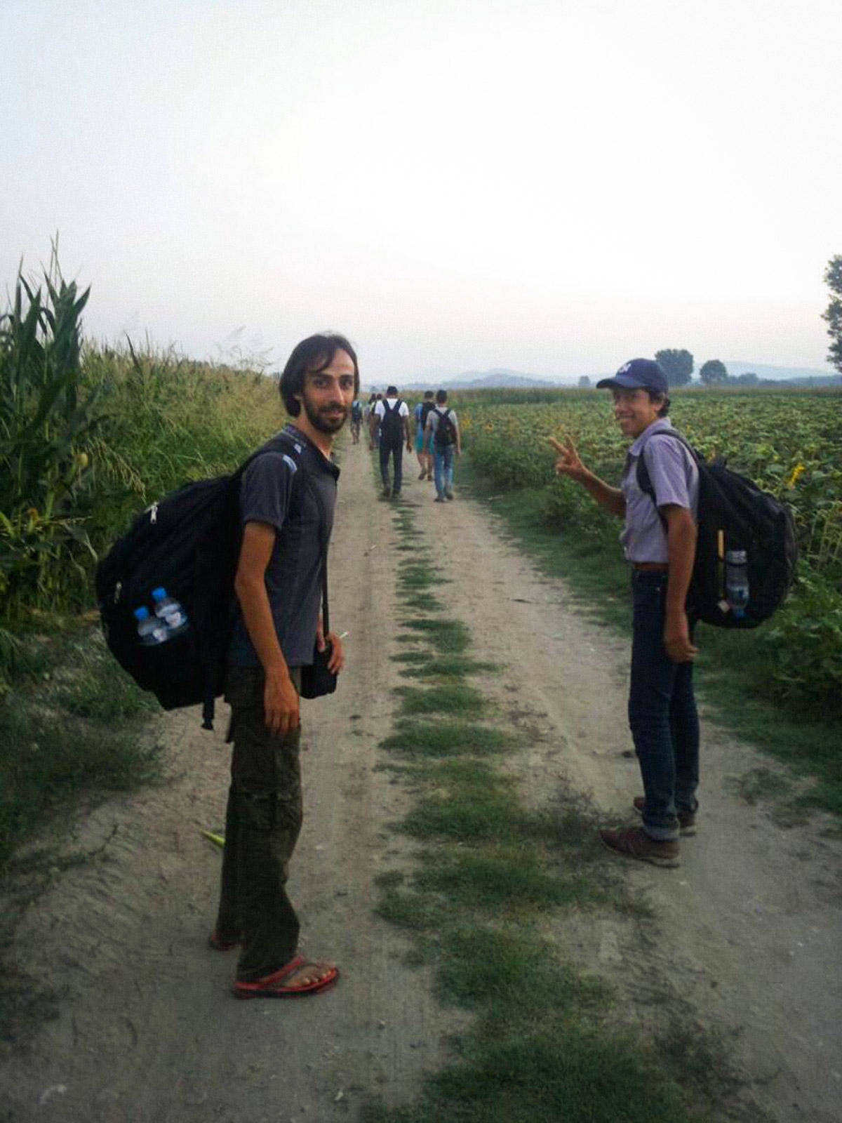 シリア人シェフのジャミーさんは、スイスに着くまでにマケドニアを含む数カ国を歩いて渡った
