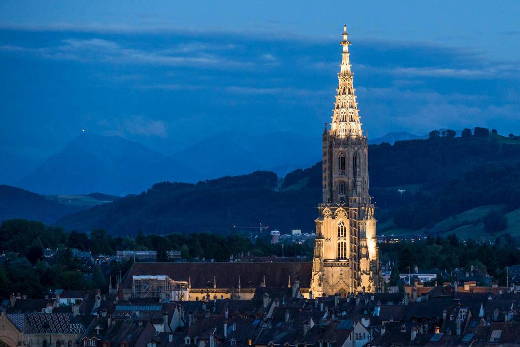 伯尔尼大教堂从1528年起就成为新教的礼拜场所。如今伯尔尼州是瑞士最后一个新教徒占人口绝对多数的州。(Keystone)