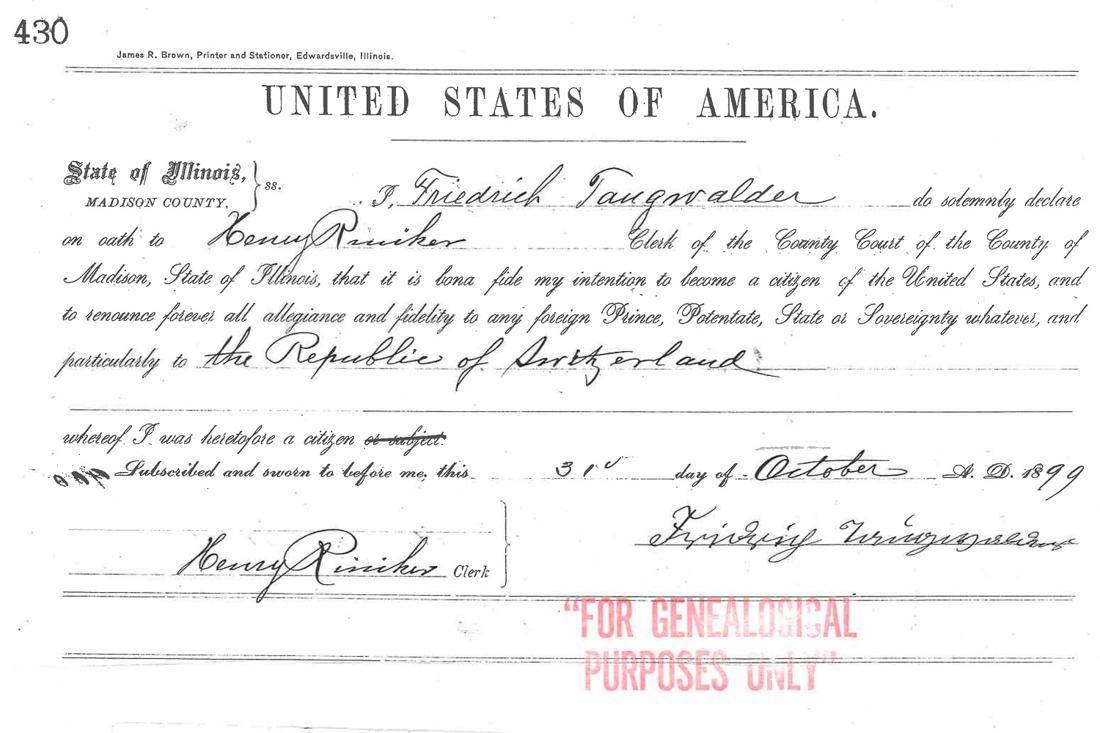 Document d'immigration américain