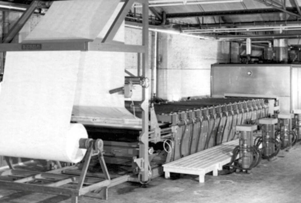 Vliesstoffproduktion in den USA, 1950