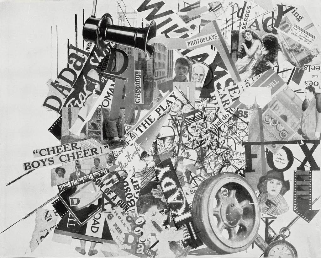 "George Grosz and John Heartfield: Collage ""Leben und Treiben in Universal City um 12 Uhr 5 mittags"" (Life and hustle and bustle in Universal City at 12 noon), after 1919"