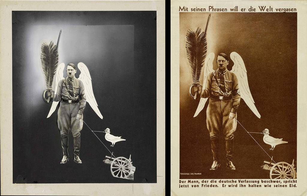 original photomontage and AIZ page, 1.6.1933