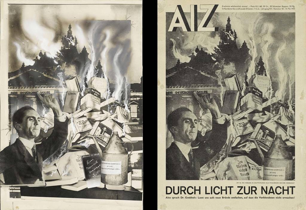 original photomontage and AIZ page, 10.5.1933