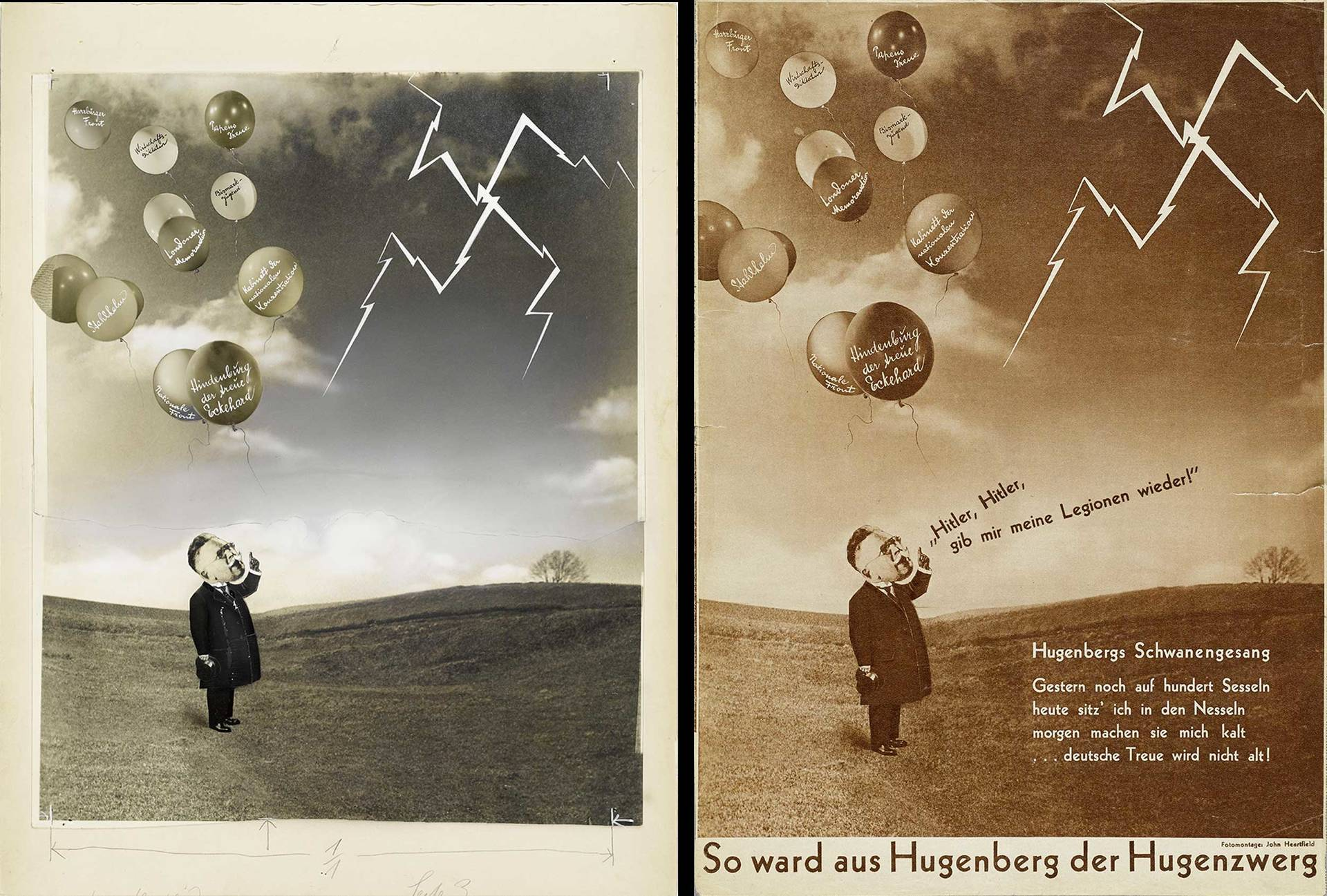 original photomontage and AIZ page, 6.7.1933