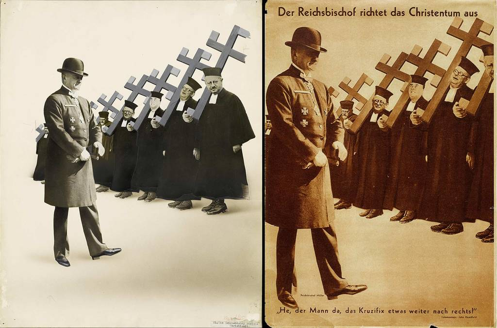 original photomontage and AIZ page, 18.1.1934