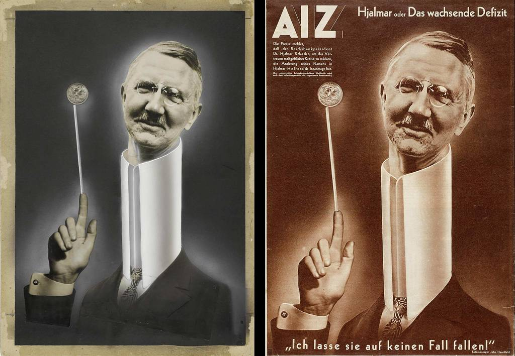 original photomontage and AIZ page, 5.4.1934