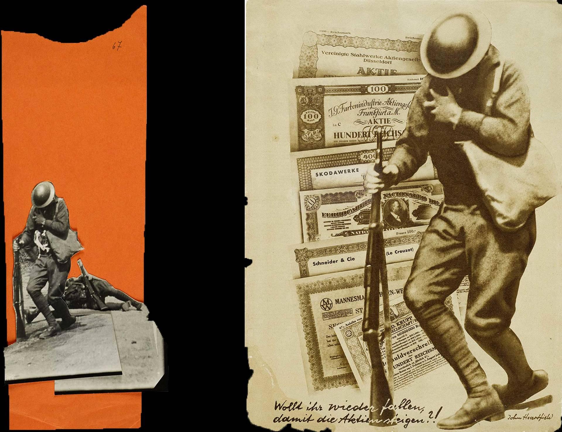 Montagematerial und AIZ-Blatt vom 28.8.1932