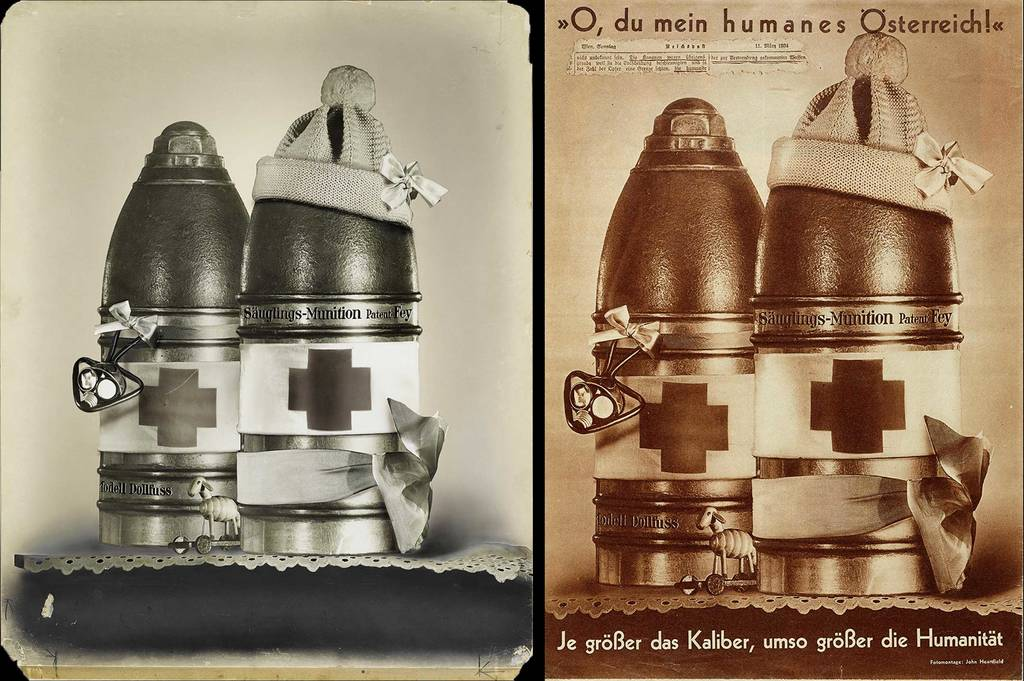 original photomontage and AIZ page, 29.3.1934