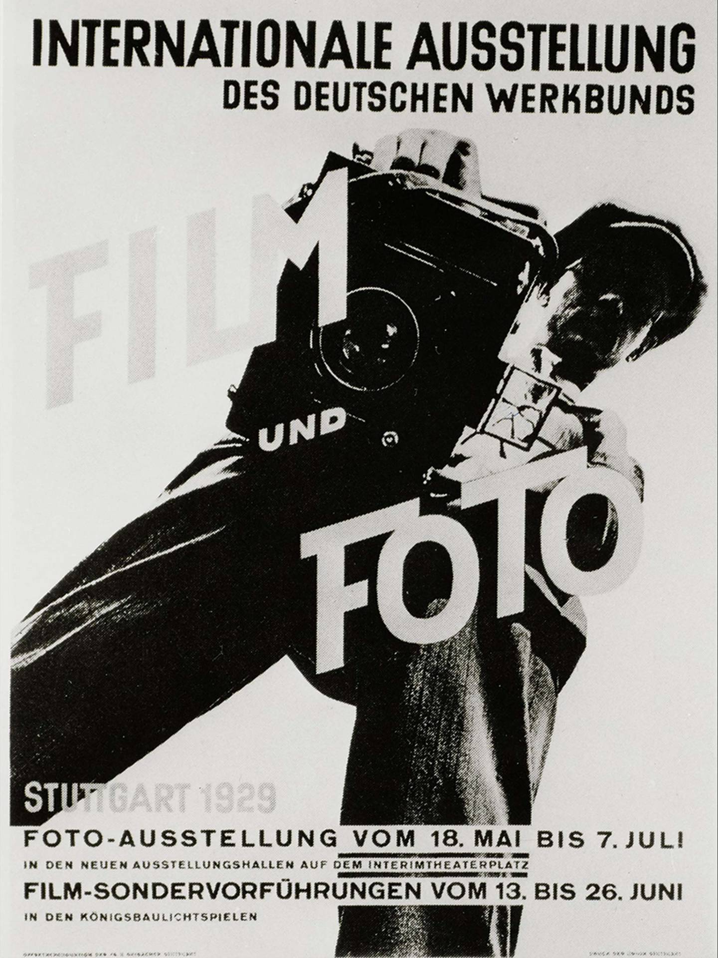 "International exhibition of the German Werkbund, ""Film und Foto"" (film and photo), poster, Stuttgart, 1929"
