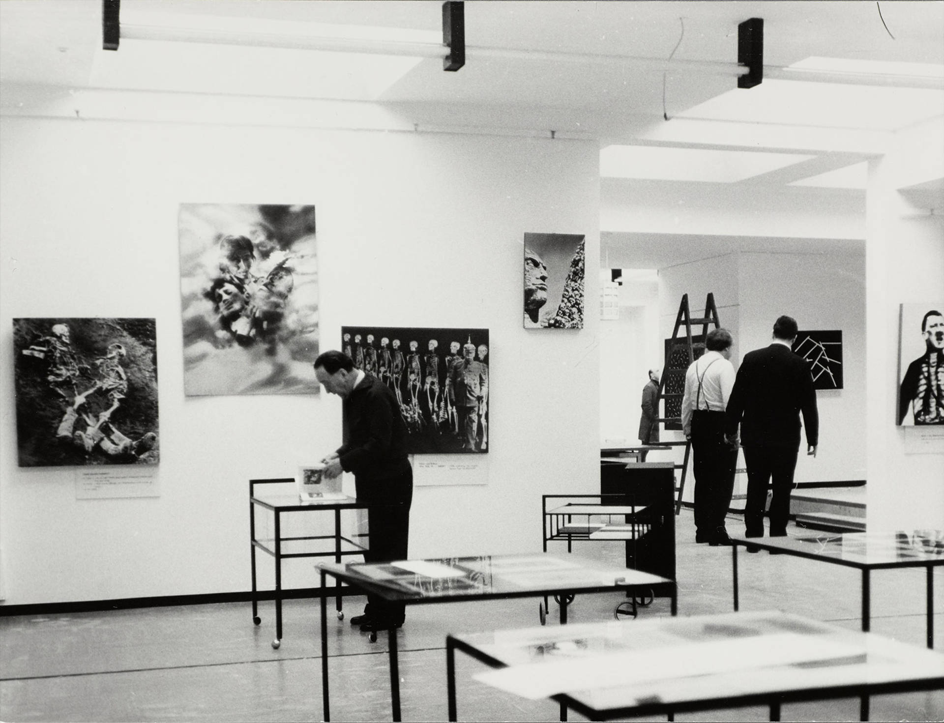 "Heartfield exhibition ""Der Punkt aufs I"" (The Point on I) in the Europacenter, West Berlin, May 1966"