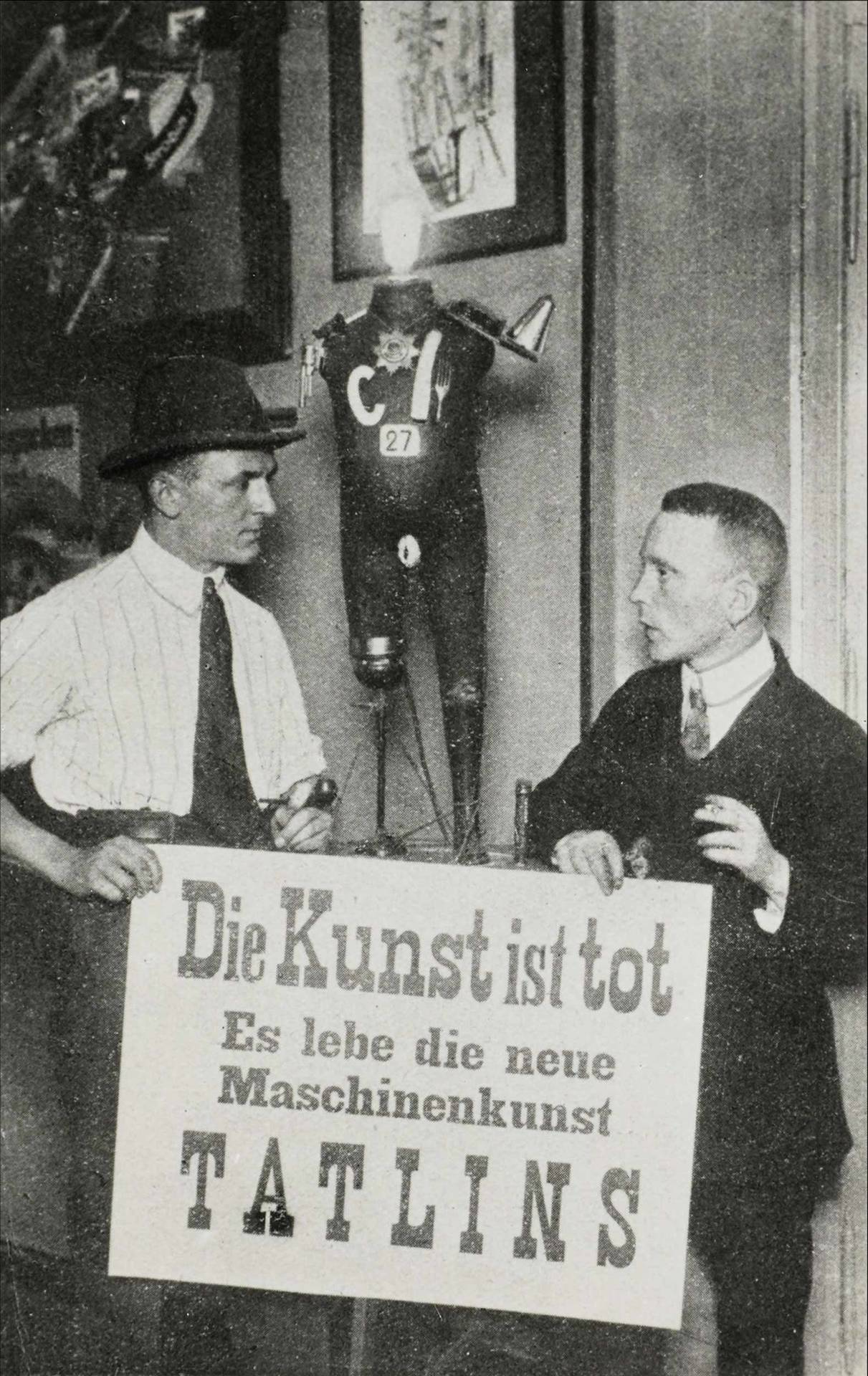 George Grosz and John Heartfield at the Erste Internationale Dada-Messe (First International Dada Fair), 1920