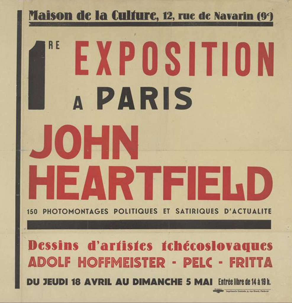Exhibition poster for the Heartfield exhibition in the Maison de la Culture, Paris, 1935
