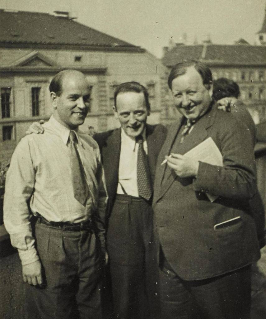 Wieland Herzfelde, John Heartfield and Kurt Kersten in Prague 1934