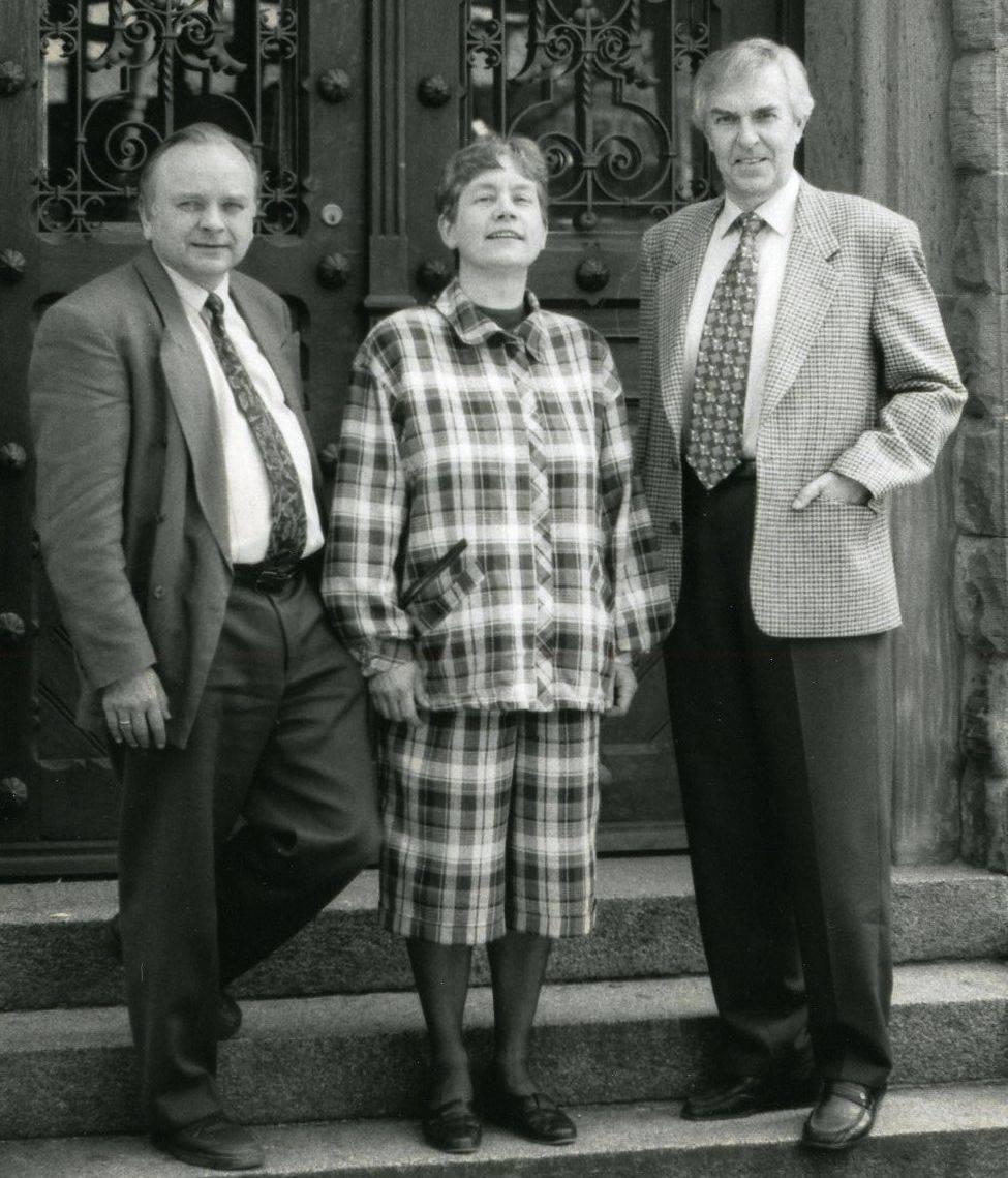 Albrecht Daur, Godlind Bigalke und Manfred Fischer (v.l.) 1995 an der Spitze der Akademie