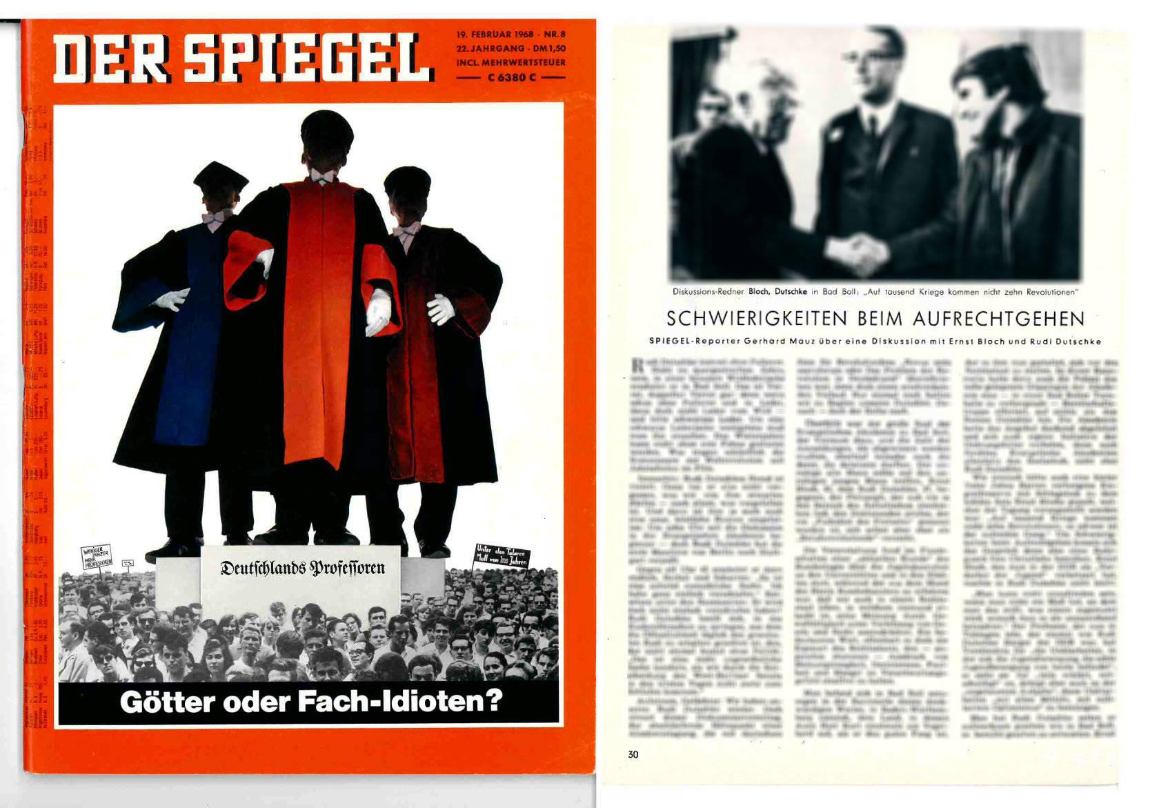 DER SPIEGEL 8/1968 vom 19.02.1968, Seite 30ff. - https://magazin.spiegel.de/EpubDelivery/spiegel/pdf/46122776