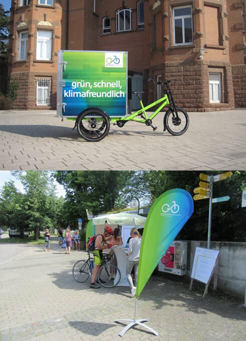 Das Lastenrad von gemeinsamweiterkommen; die Initiative informiert.