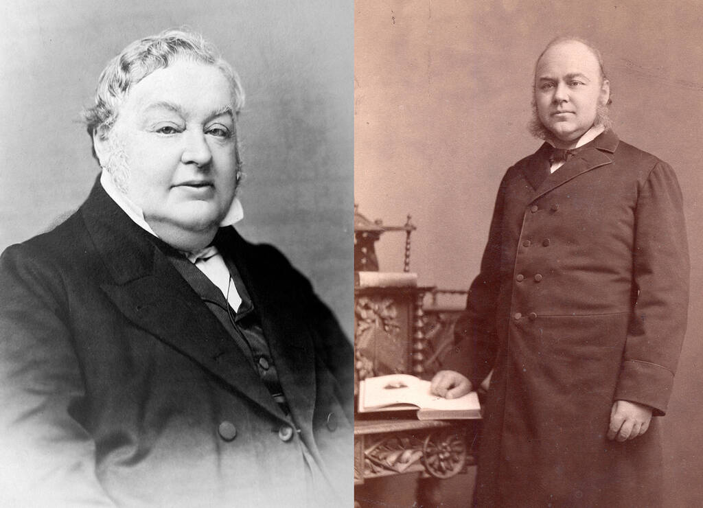 Vater links und Sohn rechts: Johann Christoph Blumhardt; Christoph Blumhardt 1870