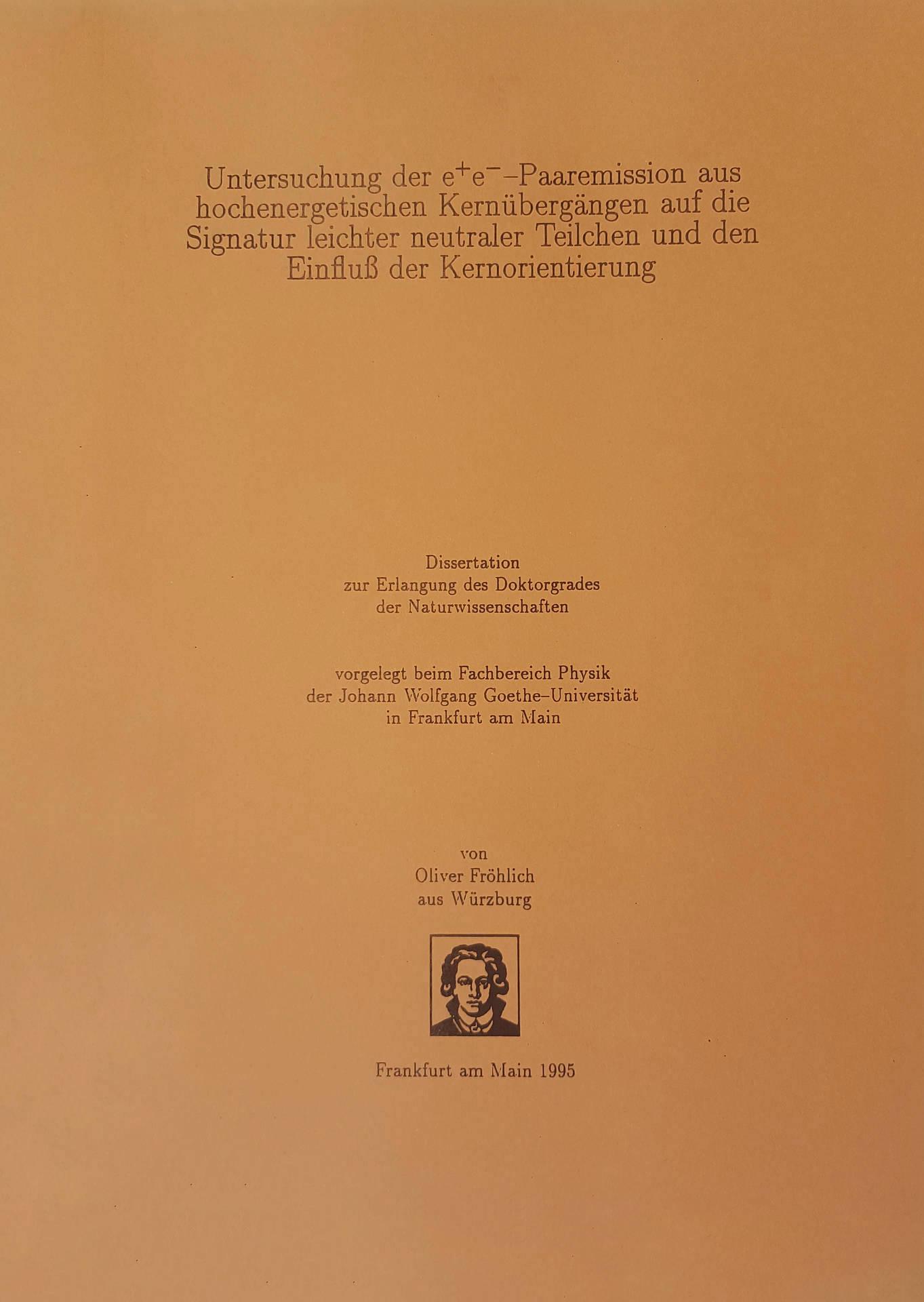 Die Doktorarbeit von Oliver Fröhlich aus dem Jahr 1995 ist bis heute Pflichtlektüre für X17-Jäger.
