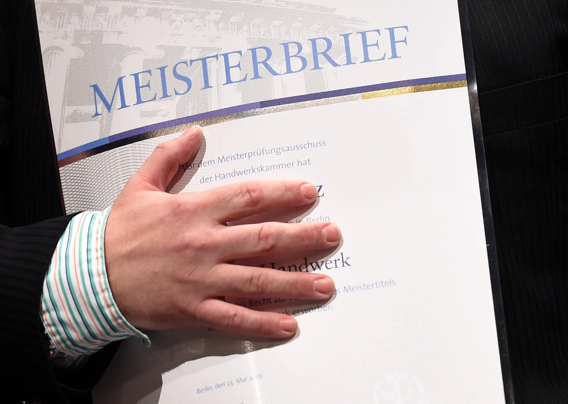 Wollseifer: Der Meisterbrief ist das identitätsstiftende Fundament des deutschen Handwerks.