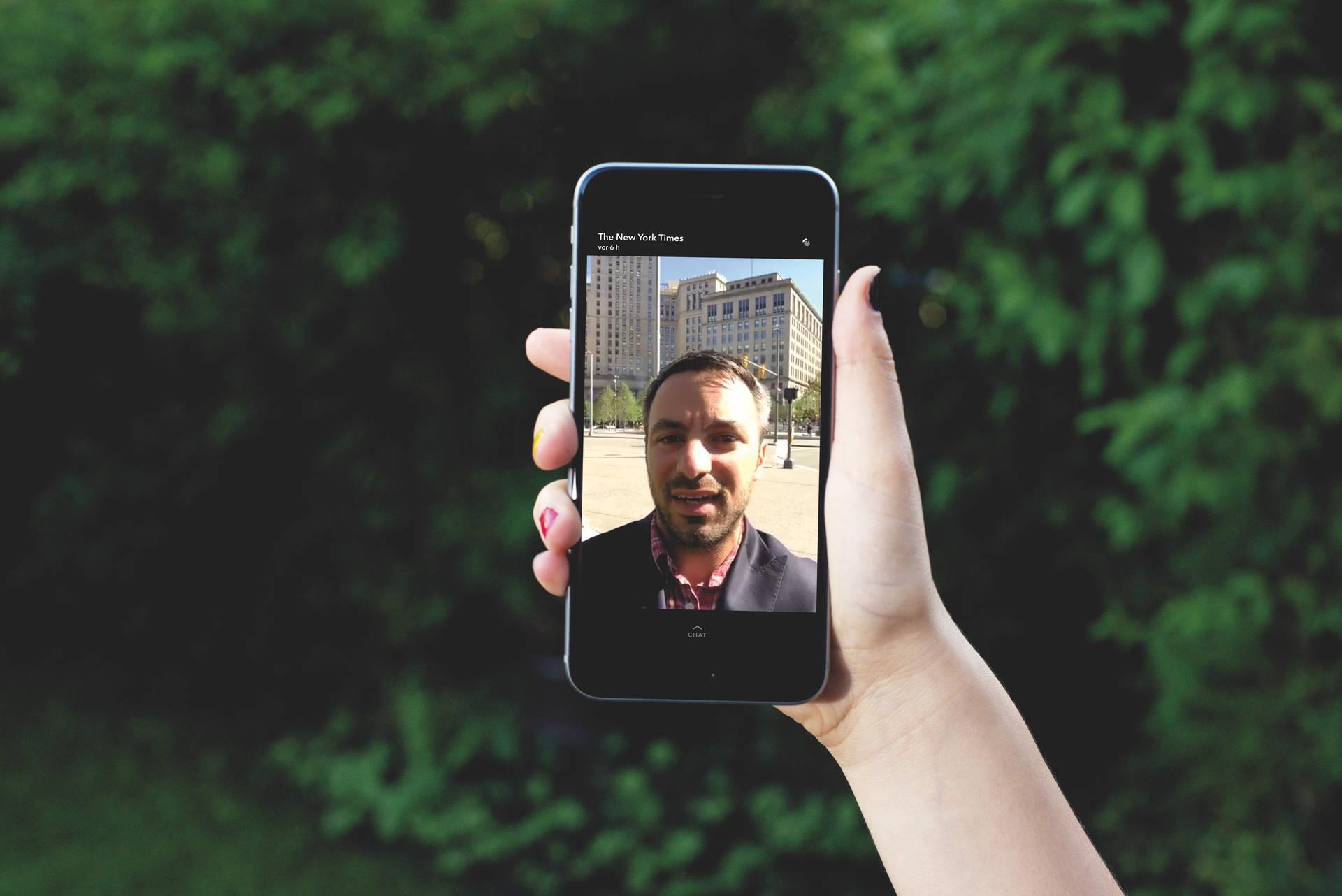 """Journalist der """"New York Times"""" auf Snapchat"""