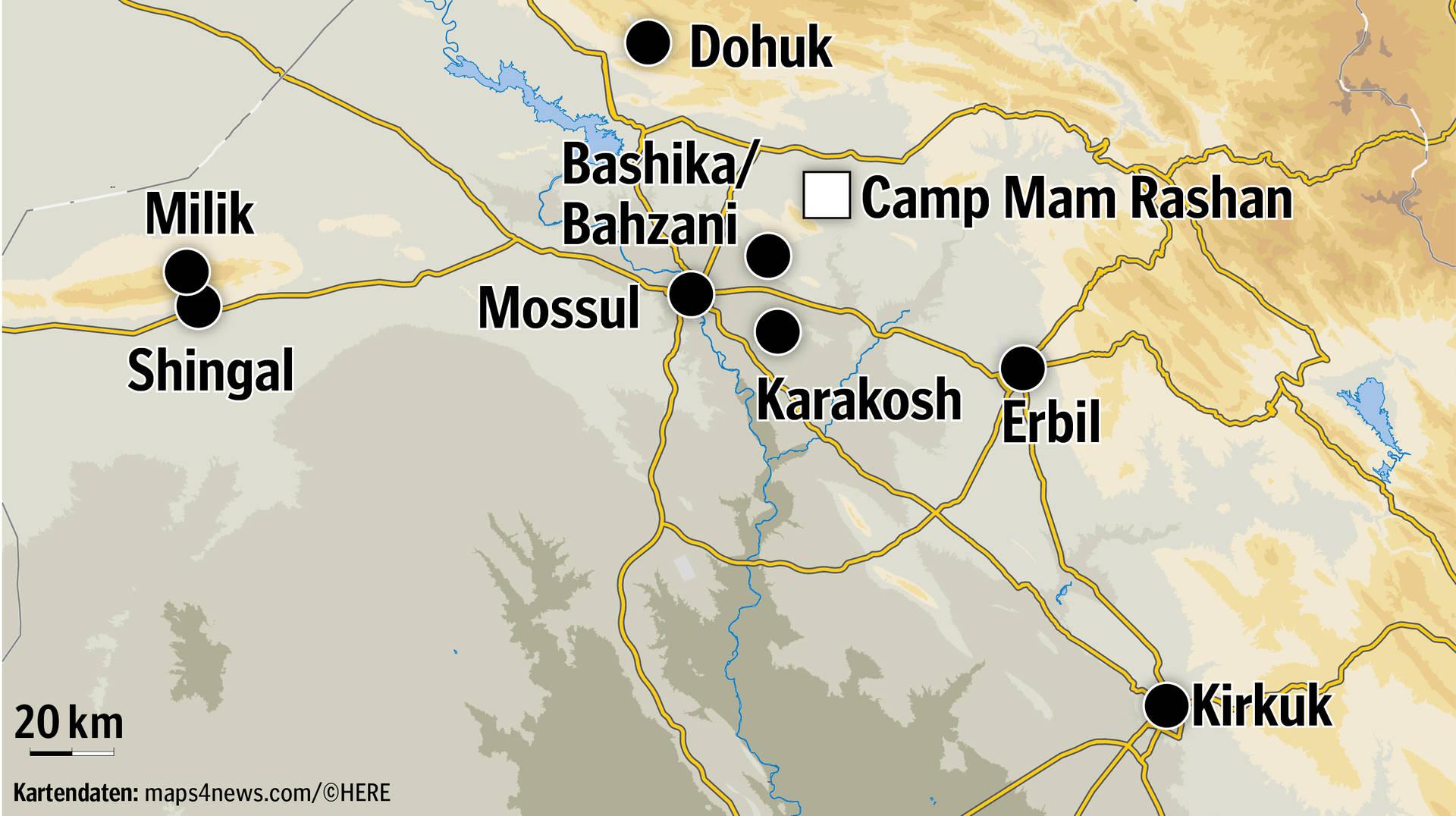 Shingal Irak Karte.Drüben Ist Krieg Fluchtgeschichten Aus Dem Irak Schwaebische De