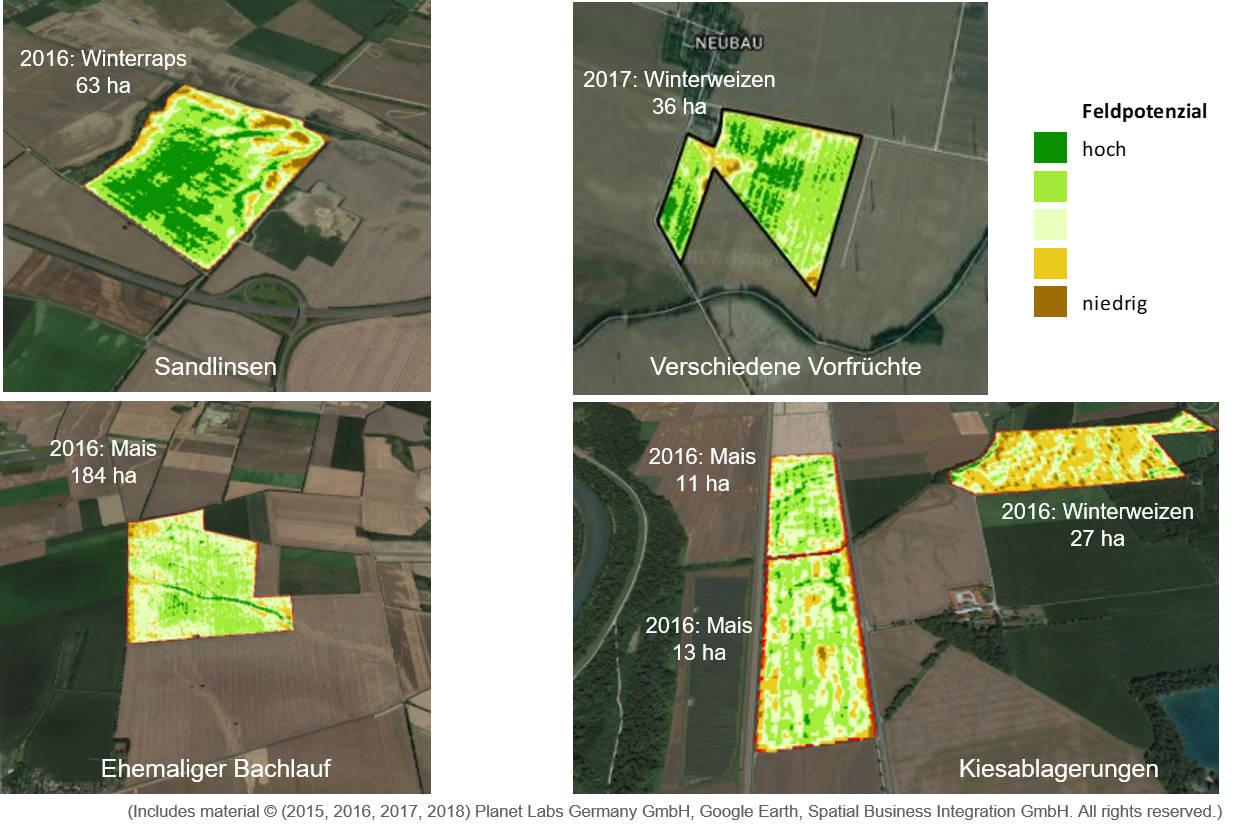 Erkenntnisse aus der Satellitenanalyse: Feldmuster