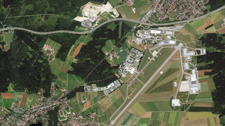 Luftbild der Region Oberpfaffenhofen.