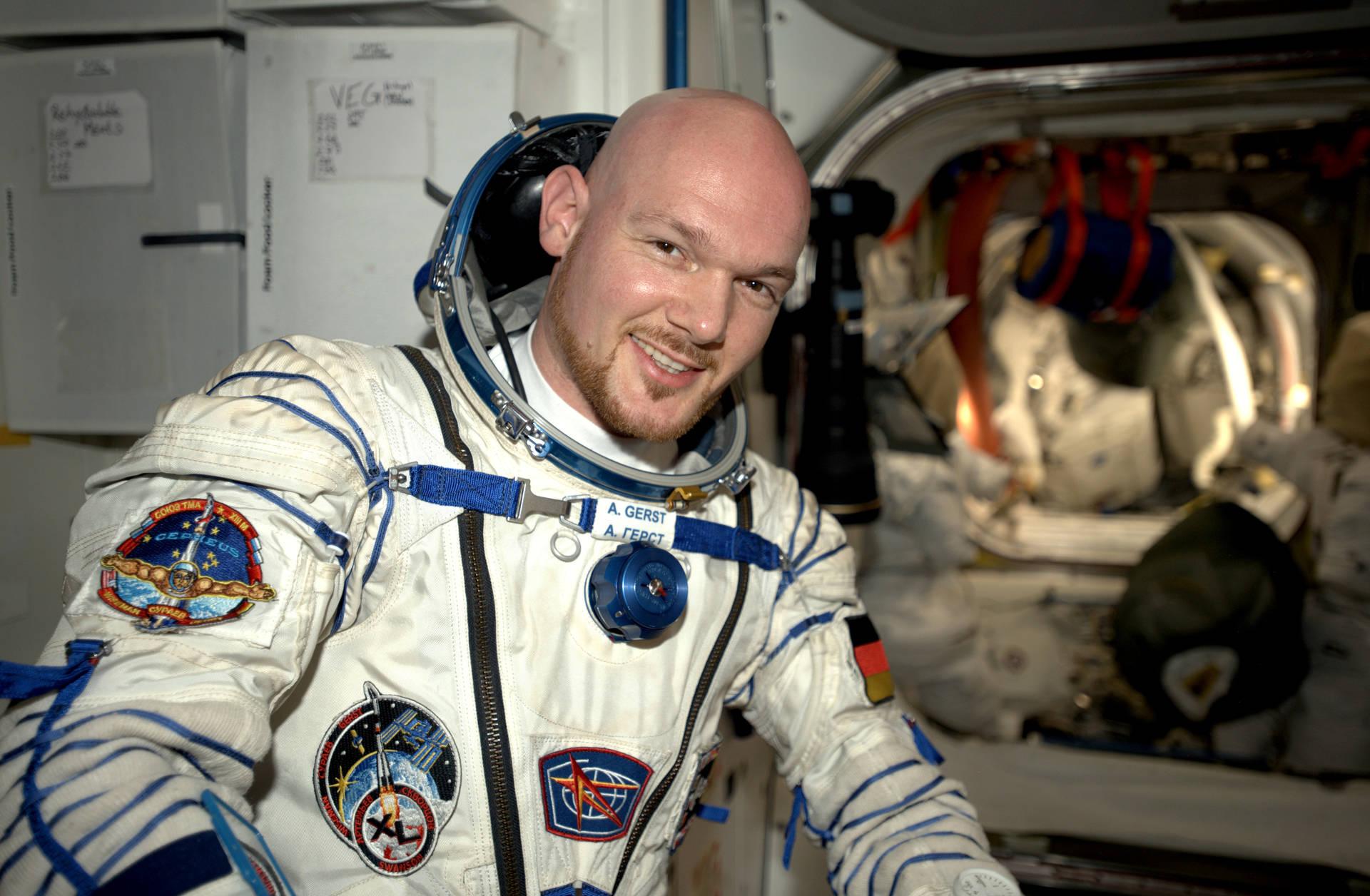 Alex bei seiner ersten Mission zur ISS (2014).