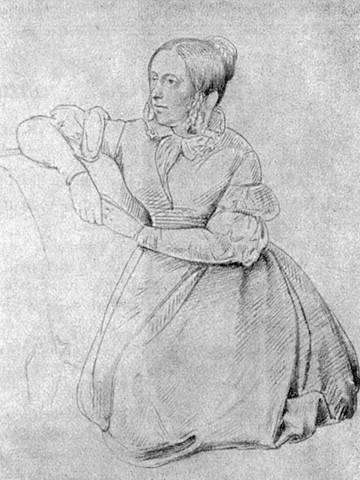 Zeichnung von Adele Schopenhauer aus dem Jahr 1840. Quelle: Goethezeitportal
