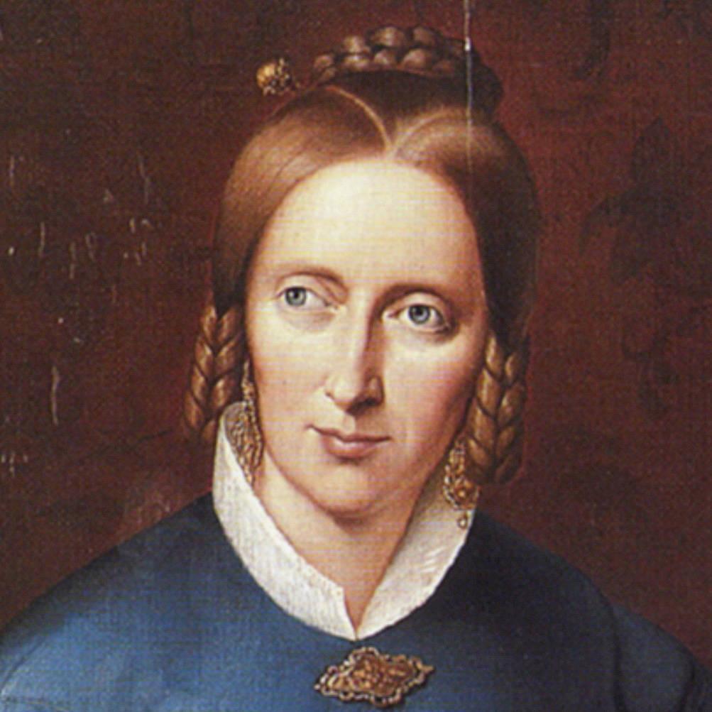 Annette von Droste-Hülshoff auf einem Gemälde von Johann Sprick von 1838. Original auf Burg Hülshoff. Bild: LWL, Quelle: Wikimedia Commons