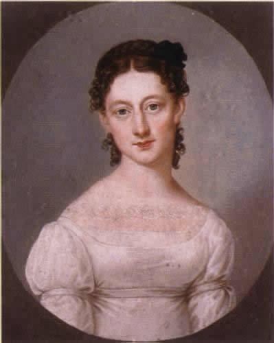 Jenny von Laßberg, die Schwester der Dichterin.       Quelle: Wikimedia