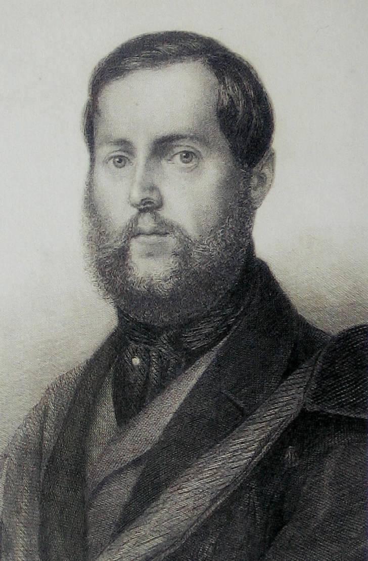 Levin Schücking, Freund der Dichterin.  Quelle: Wikimedia