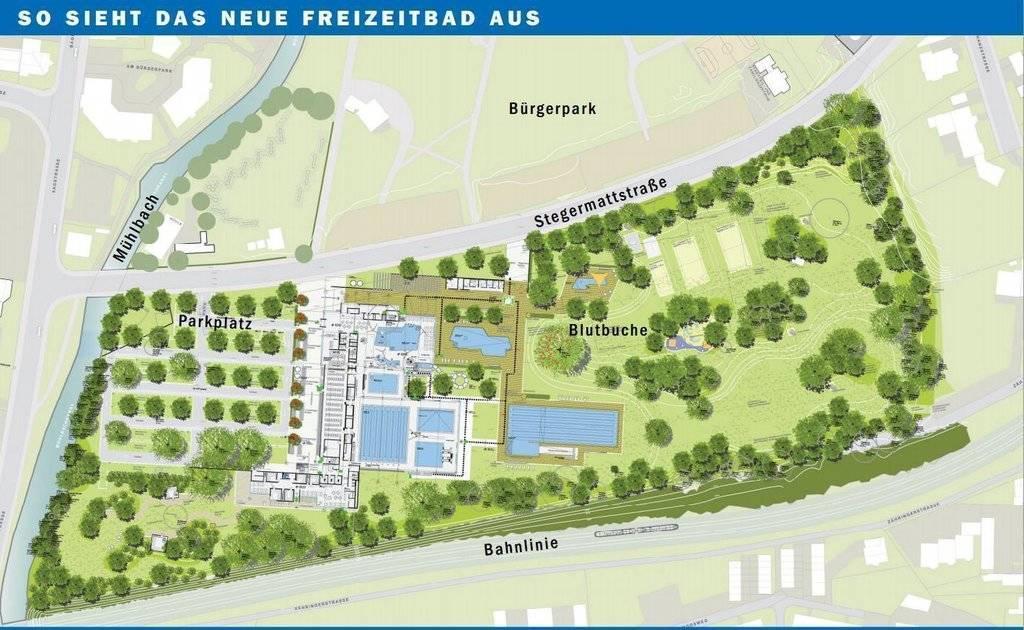 Für 36 Millionen Euro entsteht auf dem Gelände des Offenburger Stegermattbades ein neues Freizeitbad.