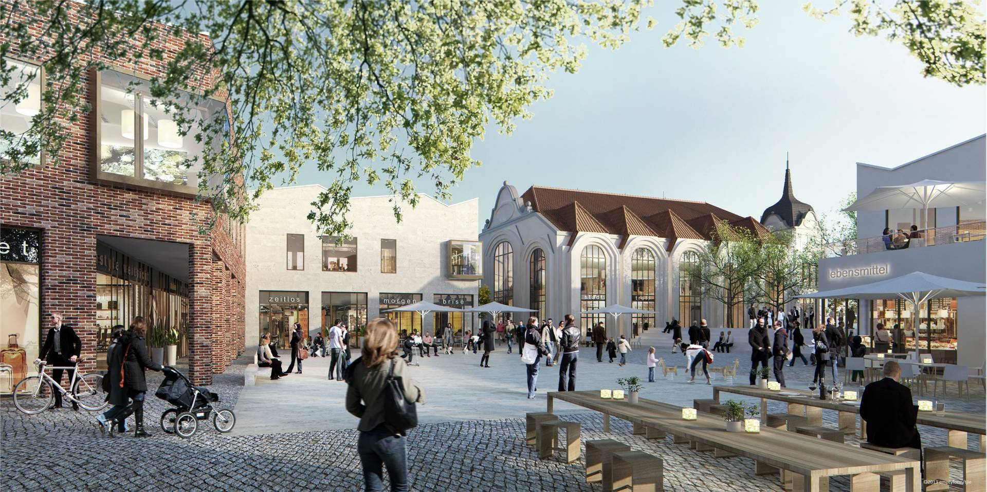 Nach langer Diskussion steht fest: Das Offenburger Einkaufszentrum kommt. So soll es einmal aussehen.
