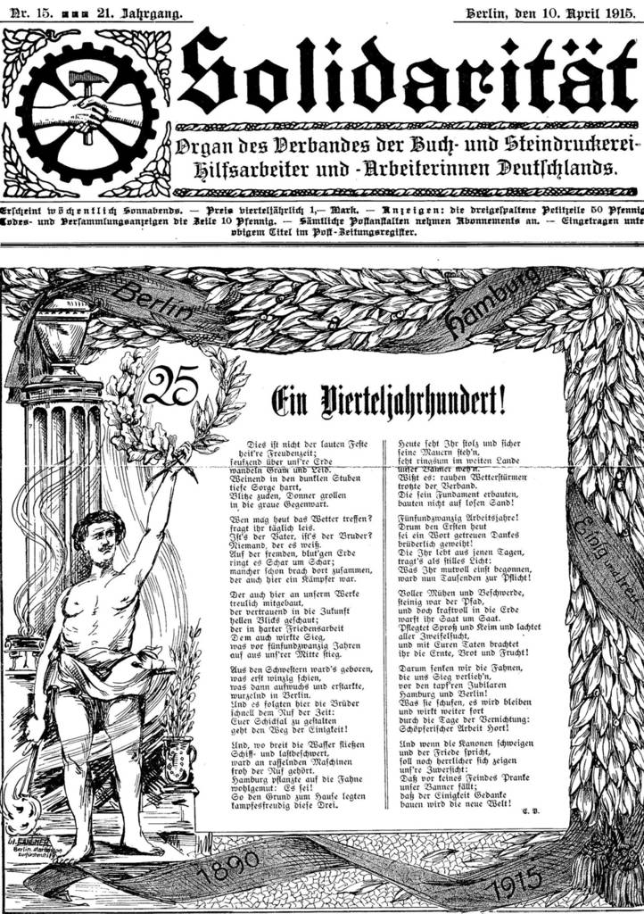 Solidarität, 10. April 1915