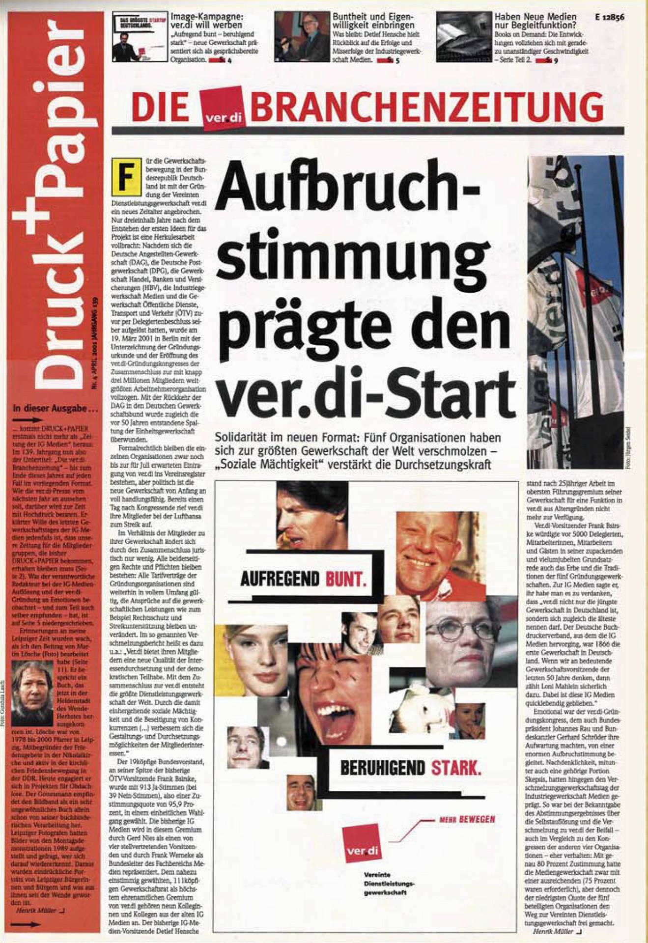Druck+Papier, April 2001