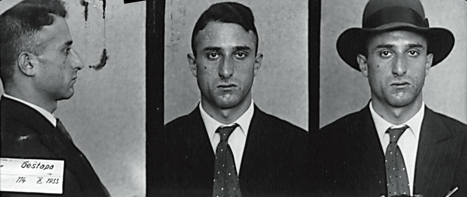 Diese Fotos machte die Gestapo von Rudi Arndt, als er im Herbst 1933 zum zweiten Mal von den Nazis verhaftet wurde. | Quelle: Bundesarchiv