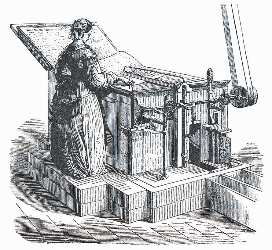 Arbeiterin an der Pfalzmaschine | aus: Beier, Schwarze Kunst, S. 109
