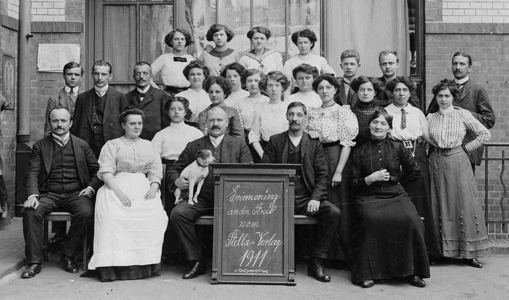 Belegschaft des Stella Verlages 1911 | Quelle: Bibliothek Karl-Richter-Verein