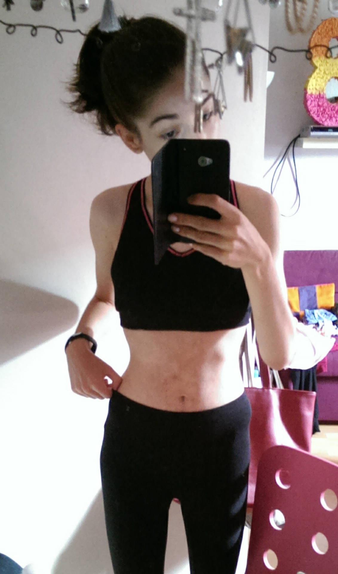 Bauch magersucht dicker Dicker Bauch