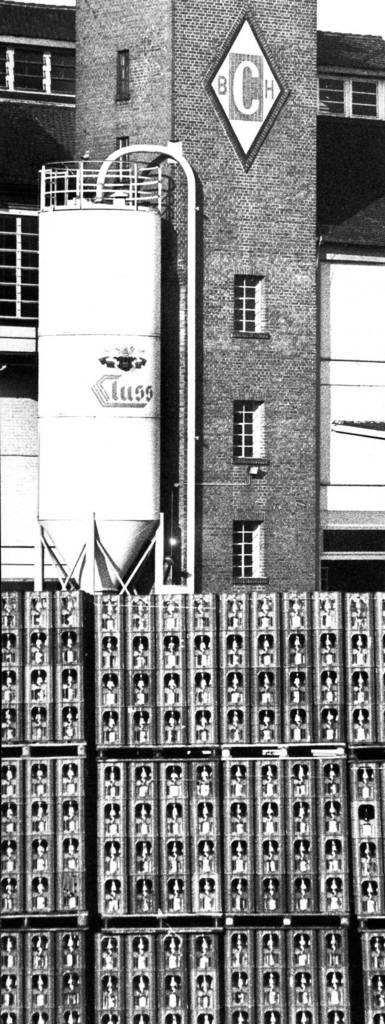 Sprudelkisten auf dem Cluss-Gelände. Foto: Eisenmenger