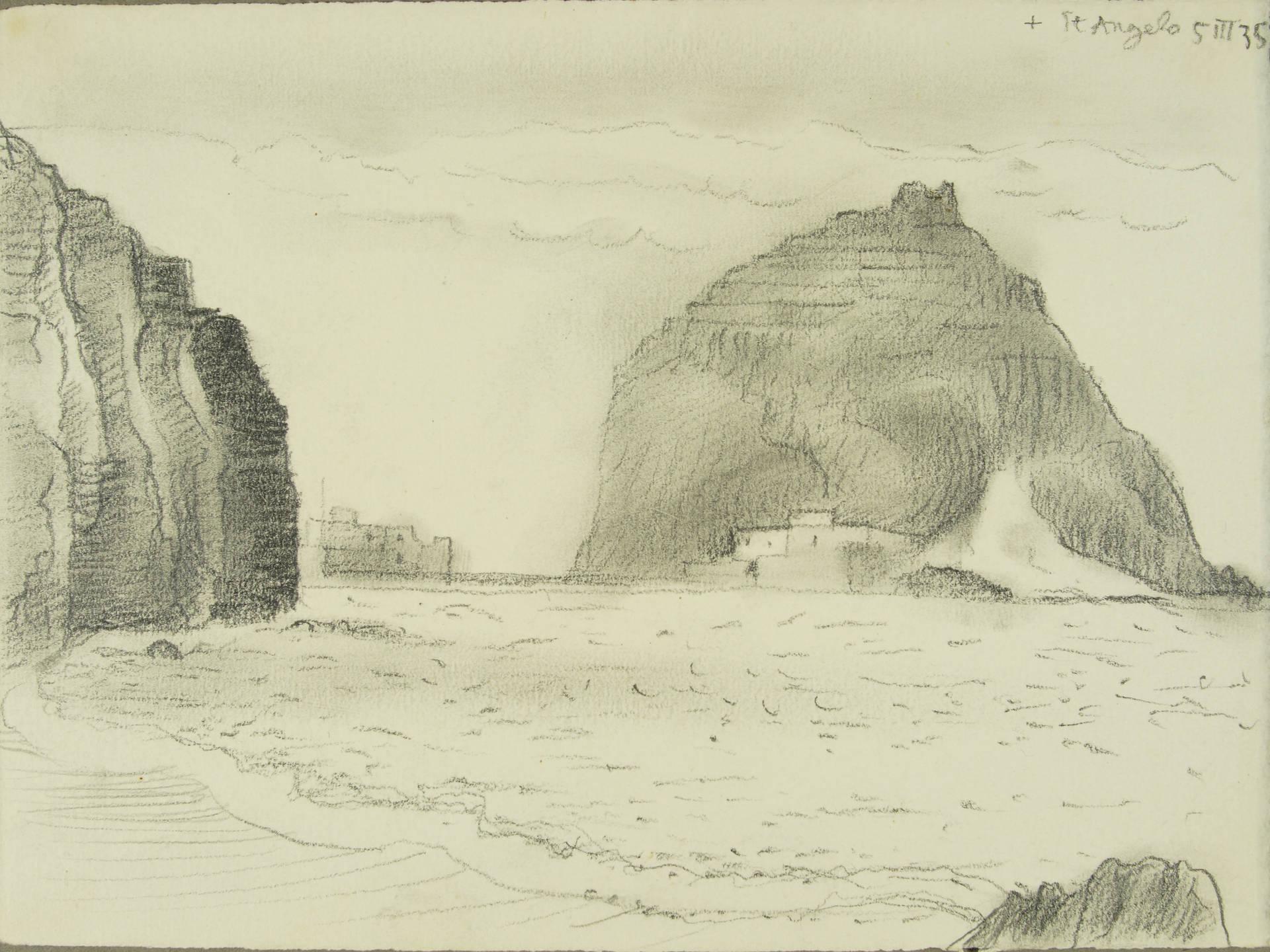 Gerhard Marcks, Ischia, St. Angelo, 1935, Bleistift, 138 x 178 mm