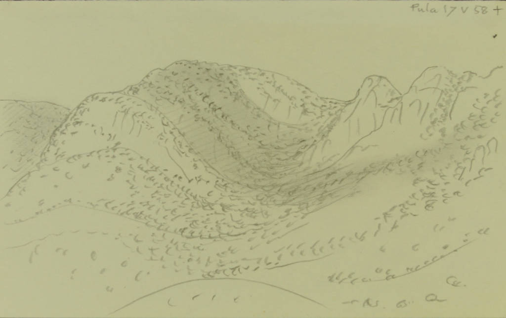 Gerhard Marcks, Pula, 1958, Bleistift, 120 x 193 mm
