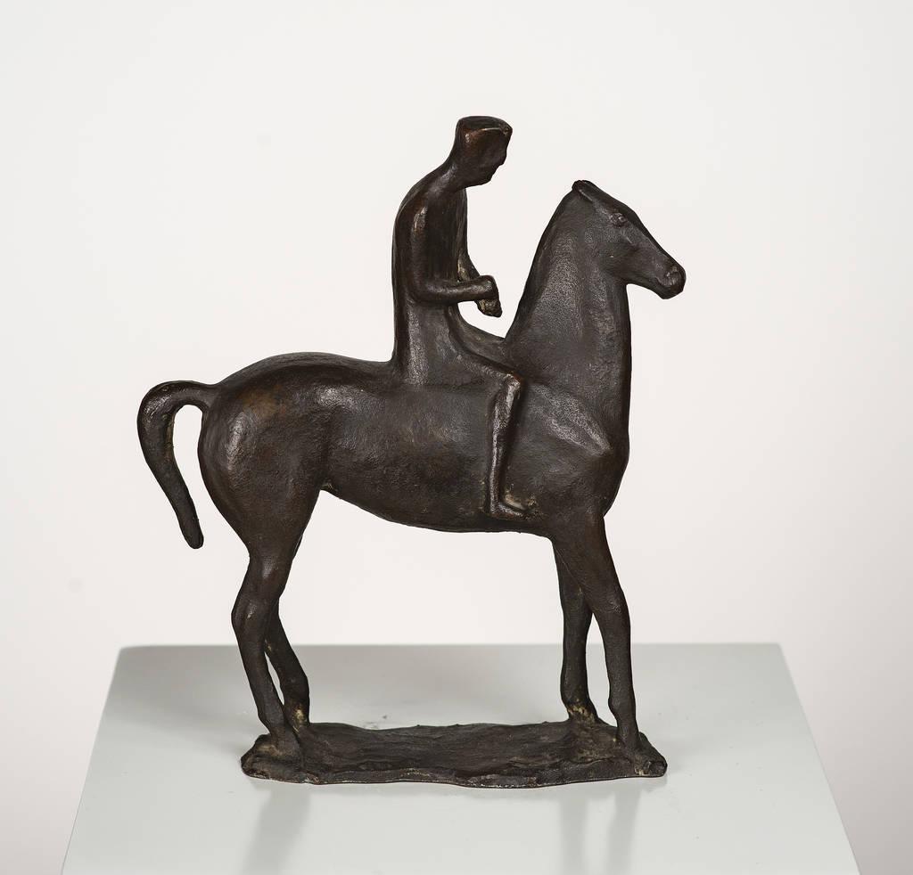Gerhard Marcks, Reiter zügelnd, 1935, Bronze, Höhe 22,5 cm