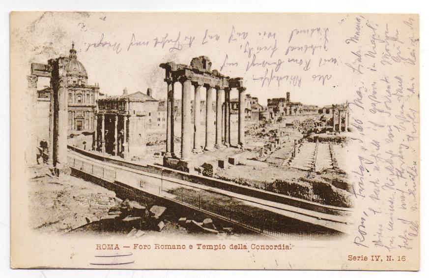 Postkarte Heinrich Manns an seine Mutter aus Rom