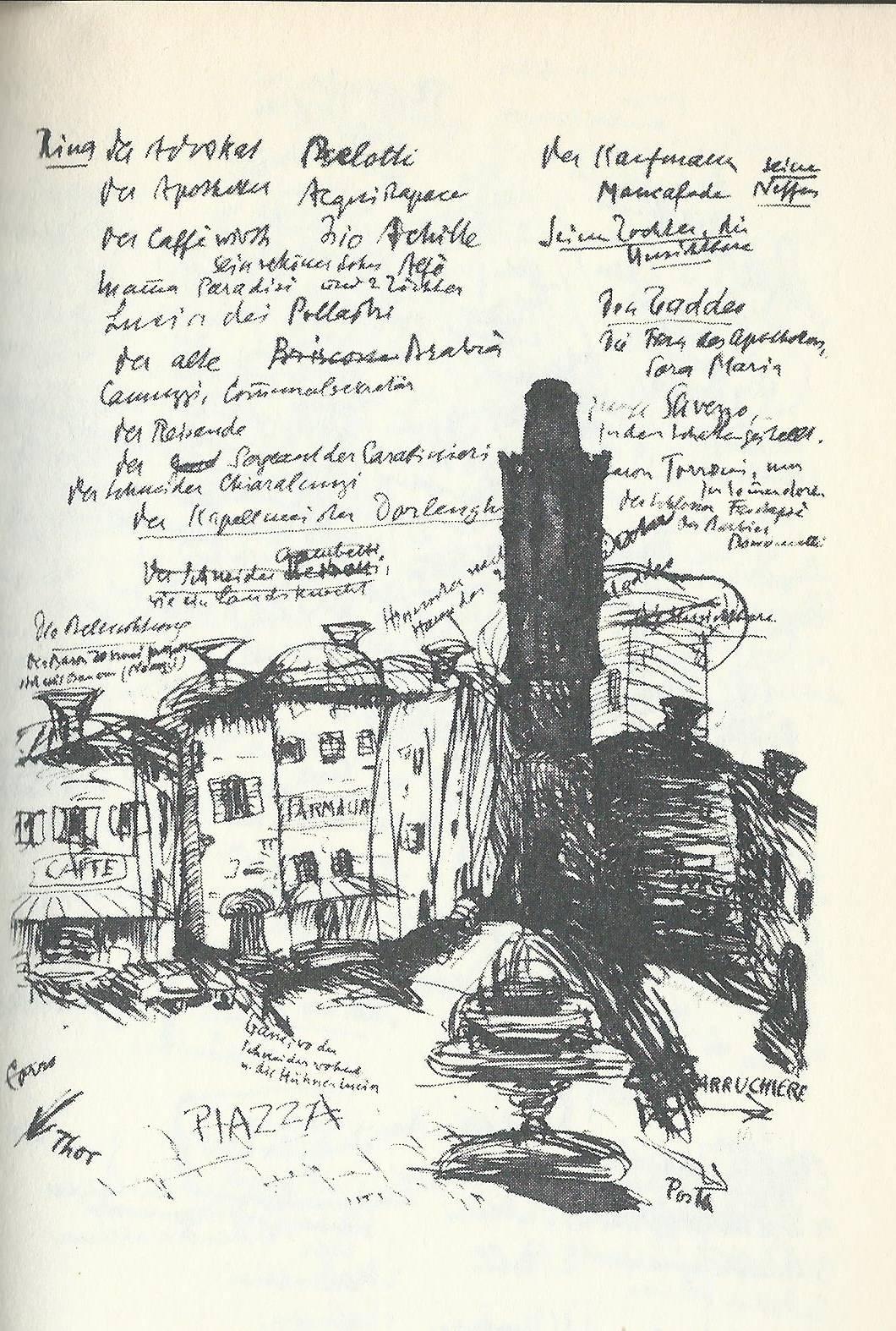 Eine Skizze Palestrinas von Heinrich Mann