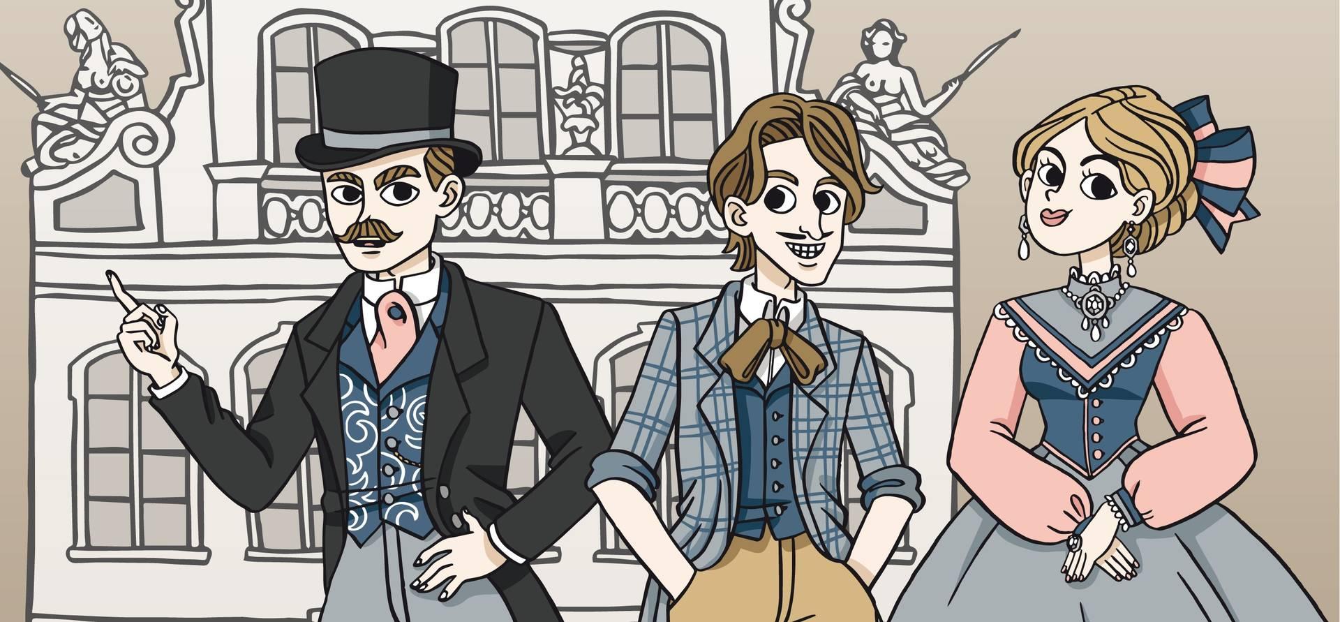 """""""Auf den Spuren der Buddenbrooks"""" begleiten Sie Thomas, Tony und Christian durch ihre Heimatstadt."""