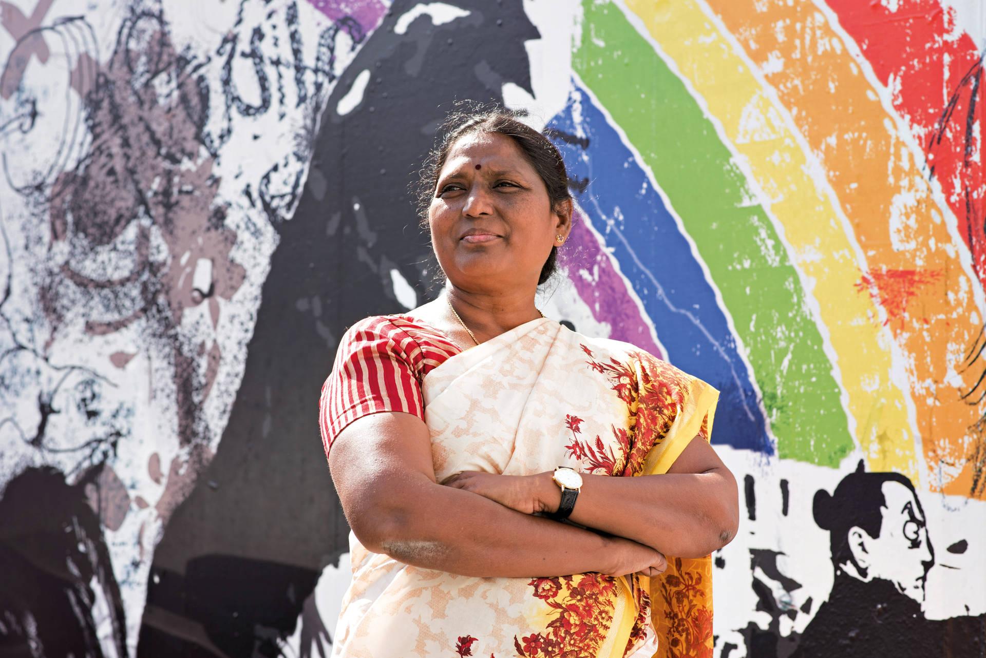 Francis Porsingula kämpft in Indien für mehr Gerechtigkeit. Bei einem Besuch in Hamburg entdeckte sie Unterschiede und überraschende Gemeinsamkeiten.