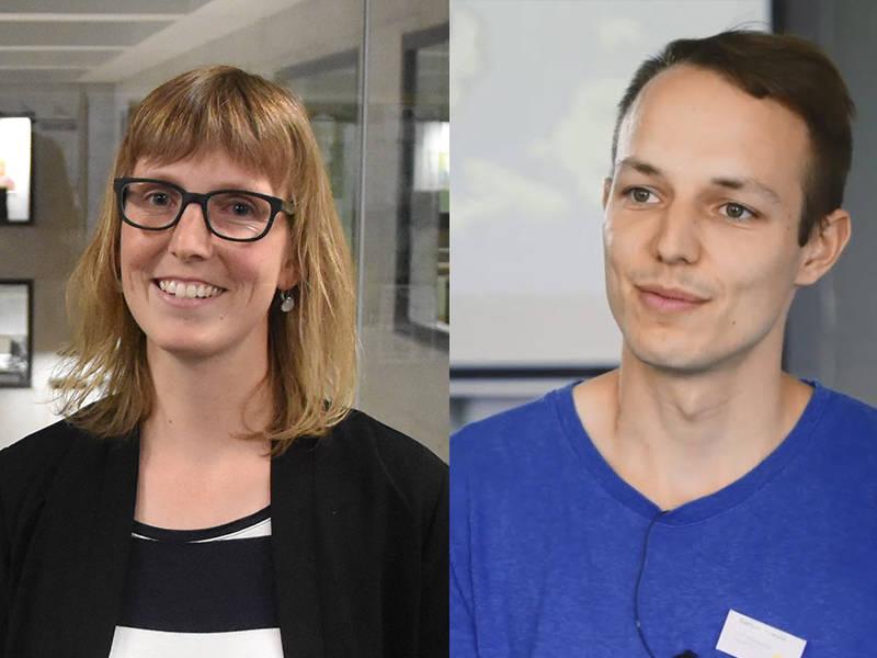Evelyn von Allmen und Samuel Howald können die praxisnahen Beispiele aus dem Blockkurs im Unterricht einsetzen.